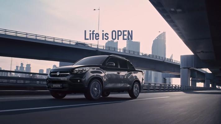 쌍용자동차 렉스턴 스포츠 광고
